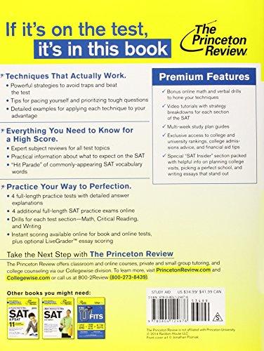 Cracking the Sat Premium 2015 Edition (Princeton Review)