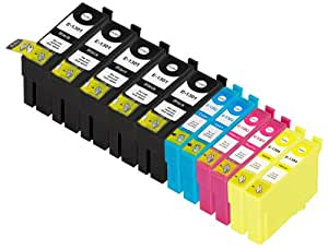 11 Pack Compatible Epson T1301 , T1306 5 Black, 2 Cyan, 2 Magenta, 2 Yellow for use with Epson Epson Stylus Office B42WD, Stylus Office BX525WD, Stylus Office BX535WD, Stylus Office BX625FWD, Stylus Office BX630FW, Stylus Office BX635FWD, Stylus Office BX925FWD, Stylus Office BX935FWD, Stylus SX525WD, Stylus SX535WD, Stylus SX620FW, WorkForce WF-3010DW, WorkForce WF-3520DWF, WorkForce WF-3530DTWF, WorkForce WF-3540DTWF, WorkForce WF-7015, WorkForce WF-7515, WorkForce WF-7525. Ink Cartridges for