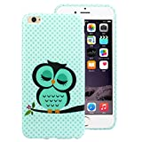"""Suppion Brand New Cute Sleeping Pattern Owl Soft TPU Cover Case for Iphone 6 Plus 5.5"""" Blue"""