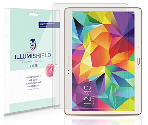 Illumishield - Samsung Galaxy Tab S 10.5 Screen Protector / Anti-Glare (Matte) Hd Clear Film / Anti-Bubble & Anti-Fingerprint / Premium Japanese High Definition Invisible Crystal Shield - Free Lifetime Warranty - [2-Pack] Retail Packaging
