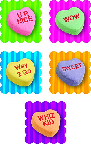 Creative Teaching Press Conversation Hearts Scratch 'n Sniff Stickers, Bubble Gum (4596)