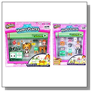 Shopkins Happy Places Bundle - Kitty Kitchen Welcome and Decorator Pack