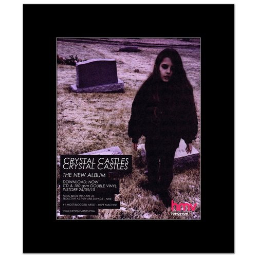 CRYSTAL CASTLES - New Album Matted Mini Poster - 30x24.2cm (Crystal Castles Poster compare prices)