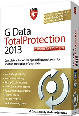 G Data Total Protection 2013 3 user 1 year license (PC)