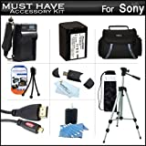 Must Have Accessory Kit For Sony HDR-TD30V Full HD 3D Handycam Camcorder Includes Replacement (2300Mah) NP-FV70 Battery + Ac / DC Charger + Deluxe Case + 50