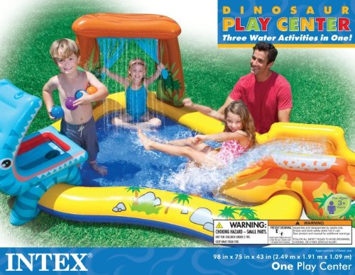 Intex Dinosaur Play Center Inflatable Kids Set Swimming Pool Home Garden Spa Spa Accessories
