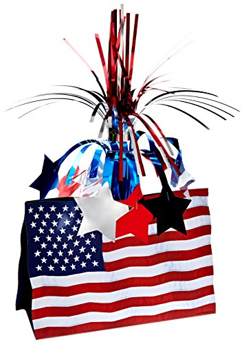 American Flag Centerpiece Party Accessory (1 count) (1/Pkg)