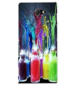 ColourCraft Colour Bottles Design Back Case Cover for SONY XPERIA M2