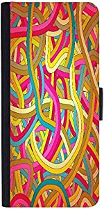 Snoogg Seamless Abstract Hand Drawn Waves Pattern Graphic Snap On Hard Back L...