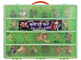 Wwe Figure Tm Compatible Organizer My Wrestling Cage Is The Perfect Storage For Ww Ei Figures Tm Fits Up To 30 Wrestling Mini Figure Large Sturdy Case And Carrying Handle (Green)