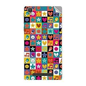 Garmor Designer Mobile Skin Sticker For Vivo X501W - Mobile Sticker