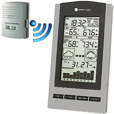 Ambient Weather Ws-1171 Wireless Advanced Weather Station With Temperature Dew Point Barometer And Humidity from Ambient Weather