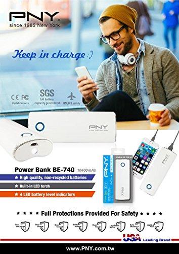 PNY BE-740 10400mAH Power Bank (White)
