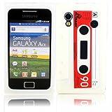 Retro Cassette Silicone Case Cover Shell For Samsung Galaxy Ace S5830 / White