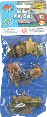 Dozen Small Toy Turtles: Set of Mini Plastic Figures by Wild Republic