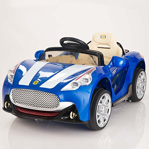 maserati style 12v kids ride on car battery powered wheels remote control blue little kid cars