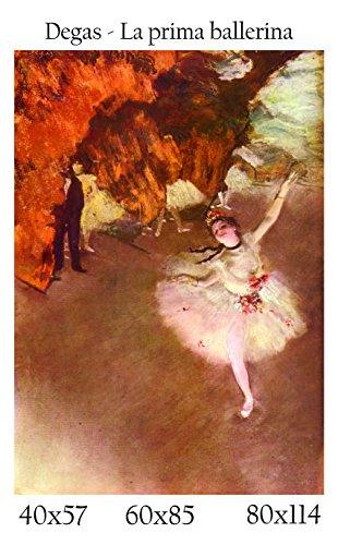 Stampa in Telo Canvas 100% QUALITà ITALIA - Degas - La prima ballerina effetto Dipinto Idea Regalo Casa quadro cucina stanza da letto soggiorno (80x114)