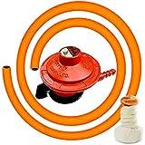 Suraksha LPG Hose Pipe With Gas Cylinder On/Off Regulator For Indane (Free-Dosa Tawa Oil Dispenser)