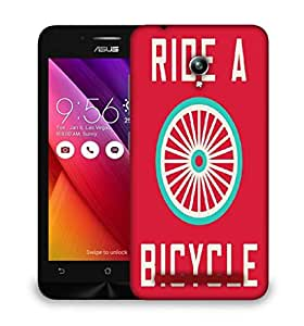 Snoogg ride a bicycle poster large 2849 Designer Protective Back Case Cover For Asus Zenfone GO