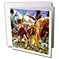 3dRose 8 x 8 x 0.25 Inches Dinosaurs Greeting Cards, Set of 12 (gc_4102_2)