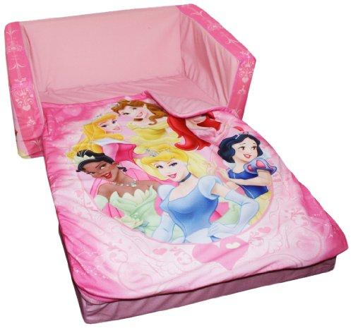 Marshmallow Fun Furniture Flip Open Sofa With Slumber Attachment: Disney Princess Theme