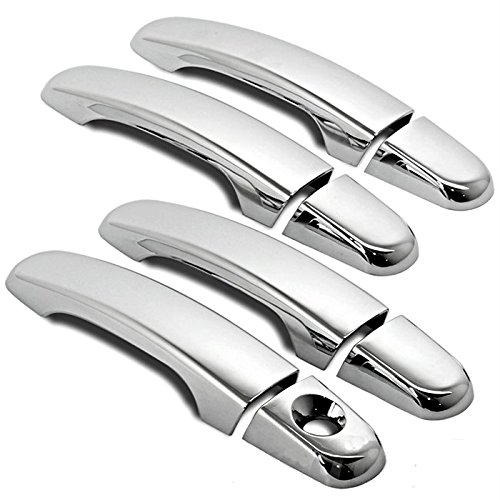 MaxMate 10-13 GMC Terrain/10-13 Chevy Equinox/06-12 HHR/04-12 Malibu Chrome 4 Doors Handle Cover W/O Passenger Side Keyhole (2009 Malibu Door Handle compare prices)