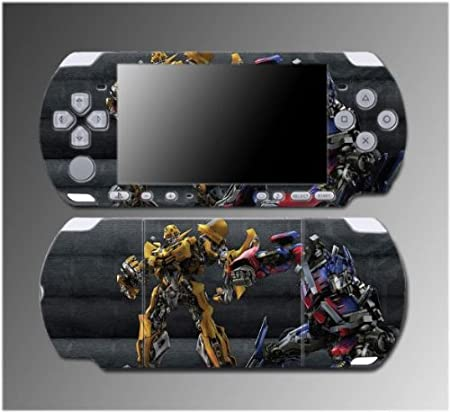 Transformers Bumblebee Optimus Prime Video Game Vinyl Decal Sticker Cover Skin Protector 5 for Sony PSP Slim 3000 3001 3002 3003 3004 Playstation Portable
