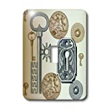 3dRose lsp_186754_1 Steampunk Abstract Single Toggle Switch