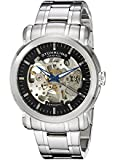 Stuhrling Original Men's 387.33111 Delphi Automatic Skeleton Black Dial Stainless Steel Watch