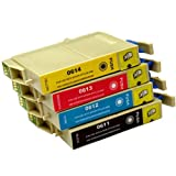 4 CiberDirect Compatible Ink Cartridges for use with Epson Stylus D88+ Printers.