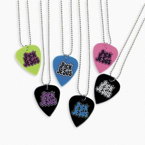 Pick Jesus Guitar Pick Necklaces (1 dz) - 1