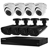 Defender Sentinel Pro 960H 8CH Security DVR with 2TB HDD Including 8 800TVL Cameras with up to 150ft Night Vision,21327