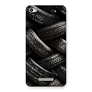 Stylish Knot Tyre Back Case Cover for Micromax Hue 2