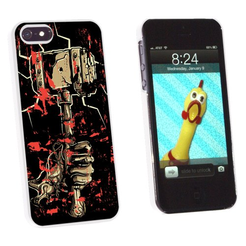 Hand Hammer and Blood - Hephaestus Vulcan Thor - Snap On Hard Protective Case for Apple iPhone 5 5S - White