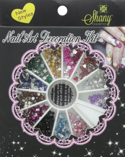 SHANY Cosmetics 3D Do it Yourself Nail Art Decoration, Rhinestones Manicure super deal shiny 1440pcs ss3 to ss10 non hotfix glass rhinestones clear crystal for 3d nail art decoration flatback strass stone