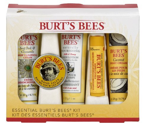 Burt's Bees Essential Kit 5 Piece Kit Travel Size