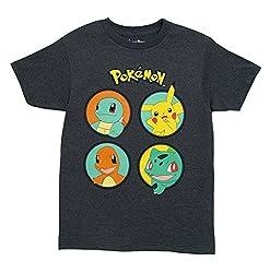 Pokemon No KIngs T-shirt (Medium, Heather Chacoal)