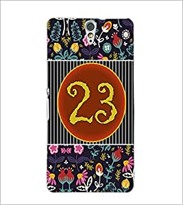 PrintDhaba Numerology Number 23 D-3111 Back Case Cover for SONY XPERIA C5 ULTRA (Multi-Coloured)