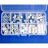 Electronics-Salon Nylon Round Spacer Assortment Kit, for M3 Screws, Plastic.