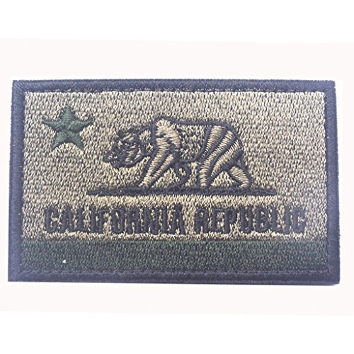 SpaceCar USA California Republic CA State Flag Veclro Tactical Morale Patches Army Green (Ca Republic Patch compare prices)