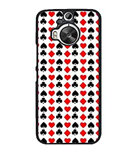Vizagbeats Cards Symbols Back Case Cover for HTC One M9 PLUS