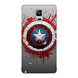 Stylish Blood Red Round Back Case Cover for Galaxy Note 4
