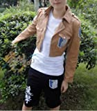 Rilkean Heart Shingeki no Kyojin Attack on Titan Scouting Legion Khaki Cosplay Unisex Jacket(size:m)