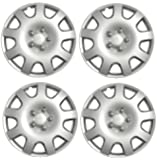 """CHECK WHEEL SIZE""Wheel Trims 15"" RENAULT MEGANE 02-09 Set of 4 Covers + Valve Caps & Ties"