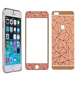 Fashion On Board 3D Rose Gold Tempered Glass & Bumper For Apple Iphone 5