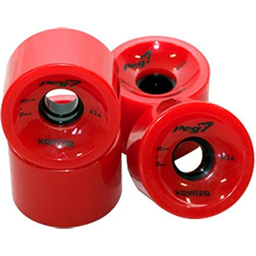 PEG-Kruiser-70mm-x-51mm-Cruising-Longboard-Wheels-Red