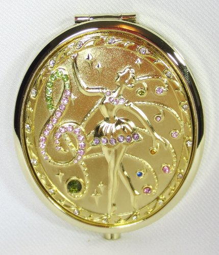 Golden Double Side Compact Mirror - Beautiful Ballet/ballerina Dance
