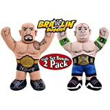 WWE Championship Brawlin Buddies The Rock & John Cena Figures Gift Set Bundle - 2 Pack