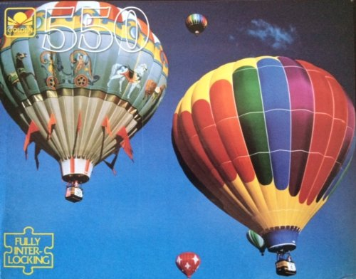 Vintage Golden 550 Piece Puzzle - Hot Air Baloons - 1