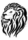 A5 Lion Head Wall Stencil Template